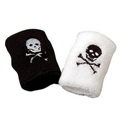 Set Of 2 Kids Pirate Terrycloth Wristbands Sweatbands -- Click on the image  for additional 00305d89bca