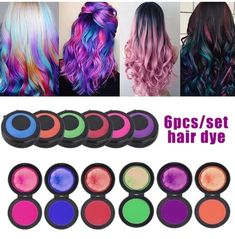 Orange And Purple, Red Green, Gray Yellow, Black White, White Gold, New Hair Colors, All The Colors, Blonde Balayage, Blonde Hair