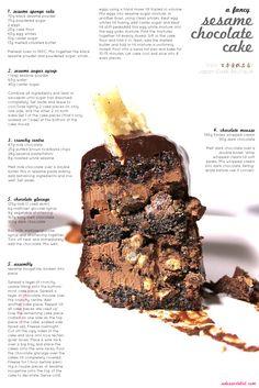 Sesame Chocolate Entremet