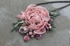 Купить Подвеска ,, Даже зимой пахнут розы малиной ,, - зеленый, браслет, комплект украшений, весна