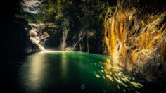 Swimming Hole - A long exposure, landscape image of Araluen falls at Finch Hatten Gorge in Queensland, Australia.