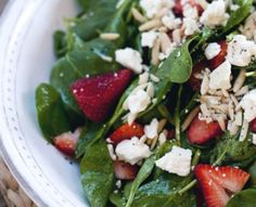 ... Spinach Salad with Strawberries and feta with Balsamic Vinaigrette