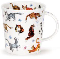 Dunoon - Fine Bone China Mugs - Cairngorm Shape : Animals Galore Cats