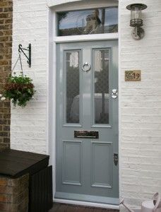 Love this blue/grey! From London Door Company via Mrs Peabod
