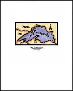 Lake Superior Map - Sivertson.com - Sarah Angst Fine Artist & Printmaker