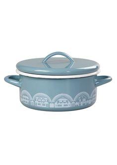 Image of Enamelware Casserole Dish - Chalkhill Blue