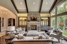 Awesome Useful Ideas: Living Room Remodel Ideas Building livingroom remodel tips.Living Room Remodel Before And After Exposed Beams livingroom remodel entryway.Living Room Remodel Ideas With Fireplace. House Design, House, Home, Living Room Remodel, New Living Room, Room Remodeling, Living Room Wall, Big Living Rooms, Great Rooms