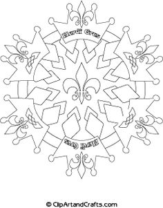 Fabulous printable design Mardi Gras #mandala  #coloring sheet for teens or adults