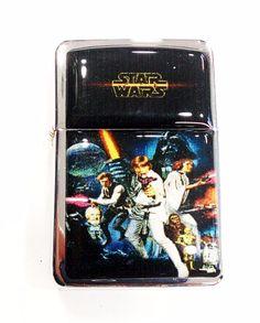 Star Wars Windproof Refillable Flip Top Oil Lighter