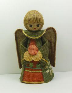 Vintage Rustic Burlap Angel by naturegirl22