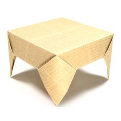 How to make a square origami table (http://www.origami-make.org/origami-table-square.php)