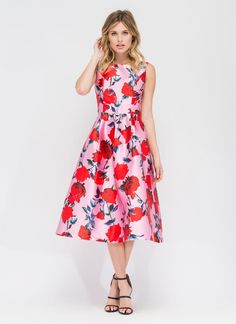 570b2f3b186 Long Stem Roses Pleated Flared Dress BLUSH - GoJane.com Club Dresses