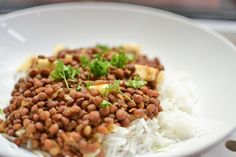 There are so many different types of lentils and beans used in Gujerati food.  It's the primary source of protein for us because we don't generally tend to eat meat. This is a quick and simple dish...