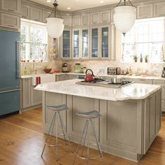Blue and Gray Kitchen - Kitchen Inspiration - Southern Living