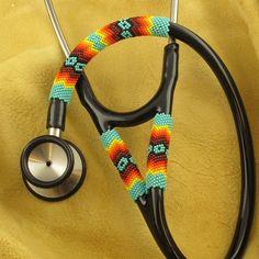 Native American Beadwork  Turquoise Beaded Stethoscope