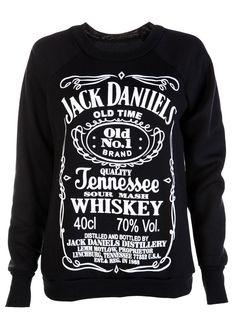 Black Jack Daniells Sweat Shirt - Womens Clothing Sale, Womens Fashion, Cheap Clothes Online | Miss Rebel