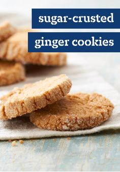 Sugar-Crusted Ginger Cookies — The most difficult part of this easy to make dessert recipe? Being patient enough to wait for the cookie dough to refrigerate until firm.