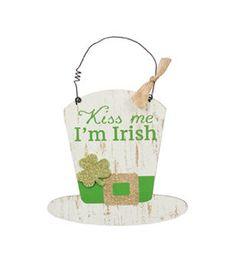 St. Patrick's Day Hat Wall Decor-Kiss Me I'm Irish