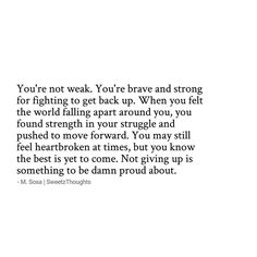 ••• Don't give up