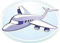 Illustration Of An Aeroplane In Light Blue Background