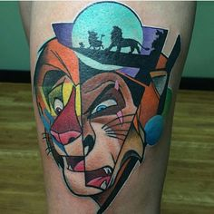 #lionking #scar #simba #disney #disneynerd #disneyobsessed #waltdisney #tattoo #disneytattoo #disneyworld