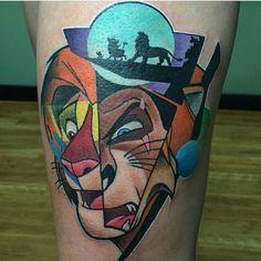 #lionking #scar #simba #disney #disneynerd #disneyobsessed #waltdisney #tattoo #disneytattoo #disneyworld