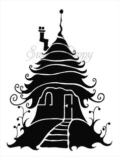 Sweet Poppy Stencil: Fairy House