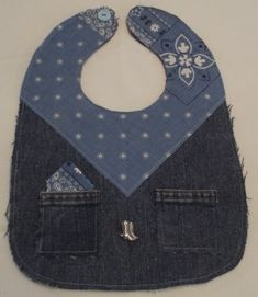 Hey, I found this really awesome Etsy listing at https://www.etsy.com/listing/201607847/bib-blue-jean-bandana-baby-bib-this-bib