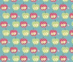 2_apples_final fabric by petunias on Spoonflower - custom fabric