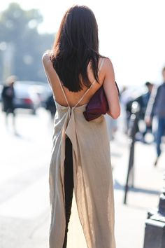 """The Best """"What IS She Wearing?"""" Looks From Paris #refinery29 http://www.refinery29.com/2015/10/95202/paris-fashion-week-spring-2016-street-style-pictures#slide-80 She's bringing sexy back...."""