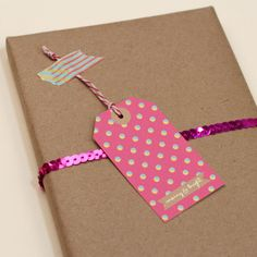 pink holiday gift tags
