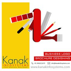 A logo is the identity of a business. It defines your business more than anything else. At Kanak Infosystems LLP. , we provide the best logo designing services. Our creative designers understand your business first, to create a masterpiece. Try us and be a Brand. #KanakInfosystemsllp #LogoDesignServices #GraphicDesign #BusinessSolutions Custom Website Design, Custom Logo Design, Graphic Design, Web Design Company, Logo Design Services, Logo Designing, Professional Website, Cool Logo, Business Logo