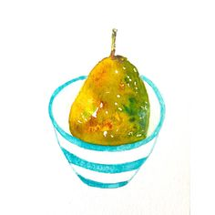 Originele peren aquarel-fruit painting-pears watercolor