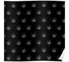 Poster - This pot leaf pattern, marijuana design is clean looking and understated, but still lets your appreciation for cannabis show. This design is also available with a white background.