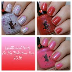 Painted Nubbs: Spellbound Nails Be My Valentine Trio Swatch & Review