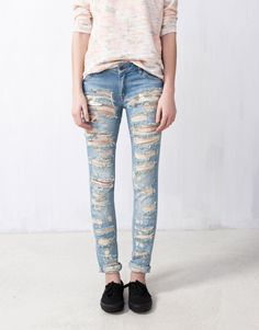 :JEANS PITILLO ROTOS TOTAL599