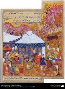 """Vignettes de """" Zafar Nom Teimuri """"   Galerie d'art islamique et Photographie"""