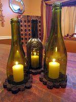 Wine & Cork: DIY Crafts Reuse Wine Bottles, Wine Bottle Lanterns, Wine Bottle Corks, Bottle Candles, Glass Bottle, Vodka Bottle, Wine Glass, Wine Craft, Wine Cork Crafts