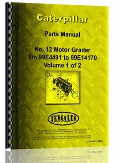 Caterpillar 12 Grader Parts Manual