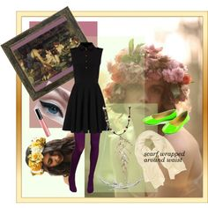 #purpleleggings #limeconverse #blackdress