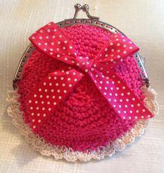 #monedero rosa tejido a #ganchillo #crochet #purse