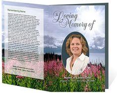 Funeral Program Examples: Seasons Single Fold Memorial Programs Template
