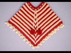 How To Make STYLISH PONCHO - YouTube Diy Crochet Top, Crochet Cable Stitch, Spiral Crochet, Finger Crochet, Tunisian Crochet, Crochet Baby, Crochet Pillow, Crochet Stitches, Poncho Knitting Patterns