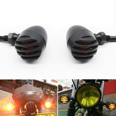 Romantic 4x Metal Plating Motorbike Turn Signal Indicator Light For Harley Chopper Cafe Good Quality With Metal Body Back To Search Resultsautomobiles & Motorcycles Accessories