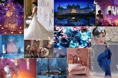 Purple and Turquoise Wedding Theme | French Fantasy | Wedding Inspiration Board | Wedding Nouveau