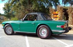 This c.1974 Triumph TR6 (Chassis CF12725U) was restored from bare metal in its factory color of Emerald Green with black interior. ~ {cwl} ~ (Image: bringatrailer)