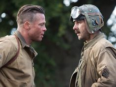 """""""Fury"""" is the violent, literally visceral story of a tank crew (led by Brad Pitt) on what amounts to a suicide mission at the close of WWII. Brad Pitt Fury, Brad Pitt Haircut, Denzel Washington, Undercut Hairstyles, Film Stills, Hollywood Stars, Haircuts For Men, Wwii, How To Look Better"""