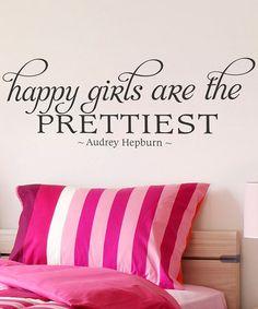 Black 'Happy Girls' Wall Decal
