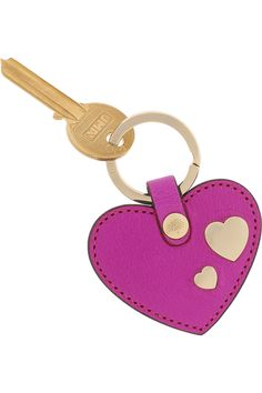 Mulberry|Leather heart key fob|NET-A-PORTER.COM