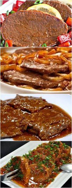 BIFE DE PANELA , BOM APETITE!!! VEJA AQUI>>>Em uma panela aqueça o óleo e sele os bifes. #receitas#salgadas#tortas#empadão#massas#lanches